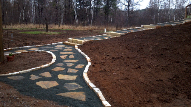 Flagstone Pathway and Steps
