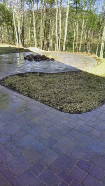 Firepit with Paver Walkway