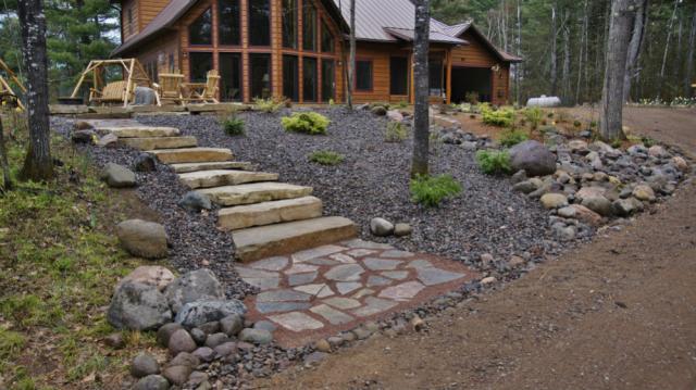Flagstone Steps, Trap Rock/Chilton Path, and Rock Gardens