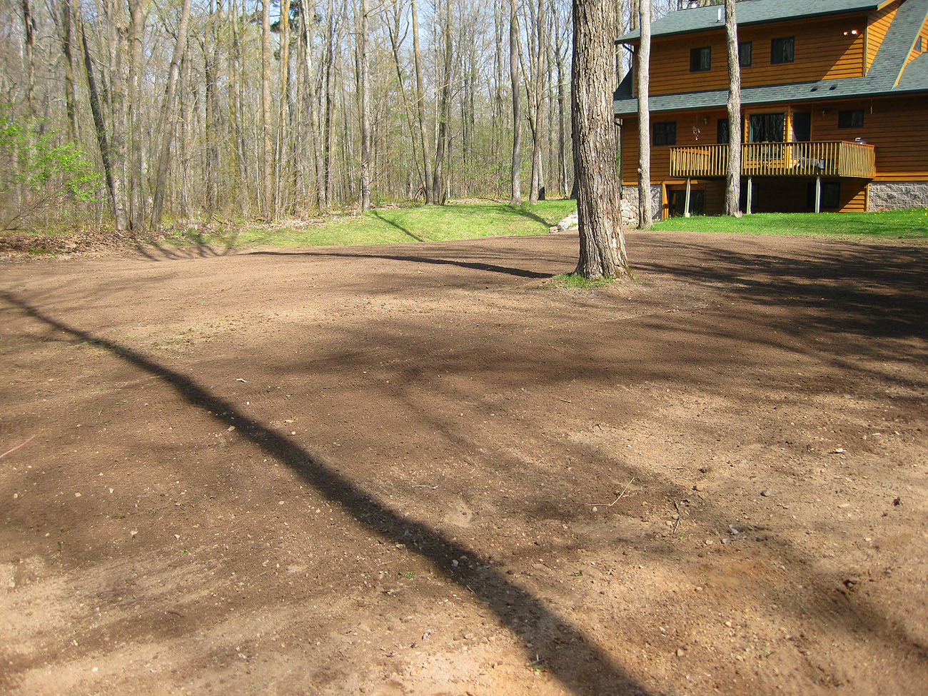Landscaping Leveling Yard : Leveling ground rick gruel landscaping