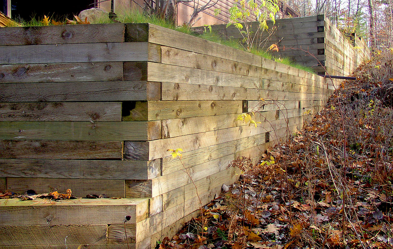 Treated Timber Retaining Wall 2 Rick Gruel Landscaping
